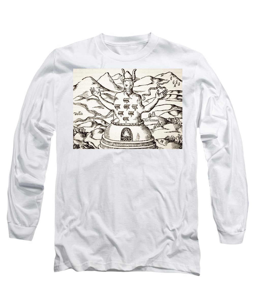 Occult Long Sleeve T-Shirt featuring the drawing Moloch by Italian School