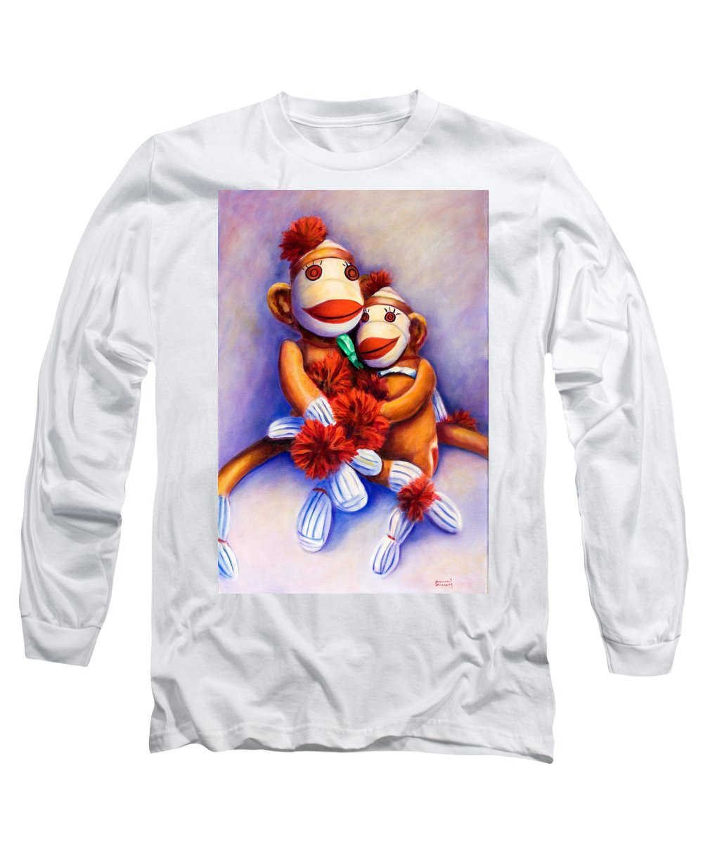Children Long Sleeve T-Shirt featuring the painting Mother And Child by Shannon Grissom