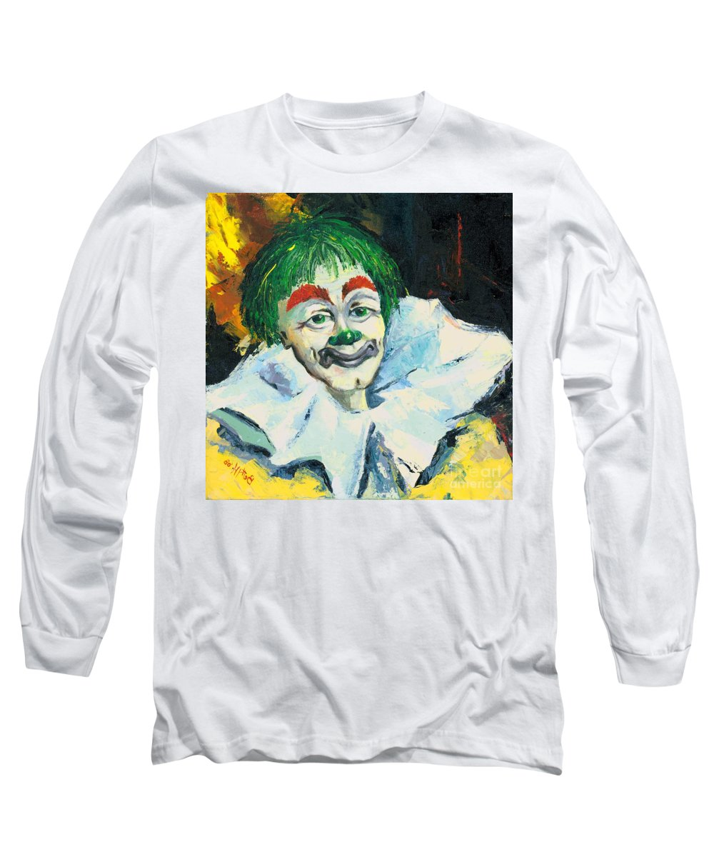 Canvas Prints Long Sleeve T-Shirt featuring the painting My Friend by Elisabeta Hermann
