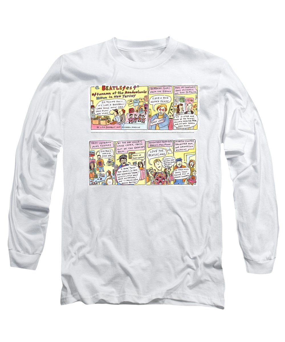 Music Long Sleeve T-Shirt featuring the drawing New Yorker April 4th, 1994 by Liza Donnelly