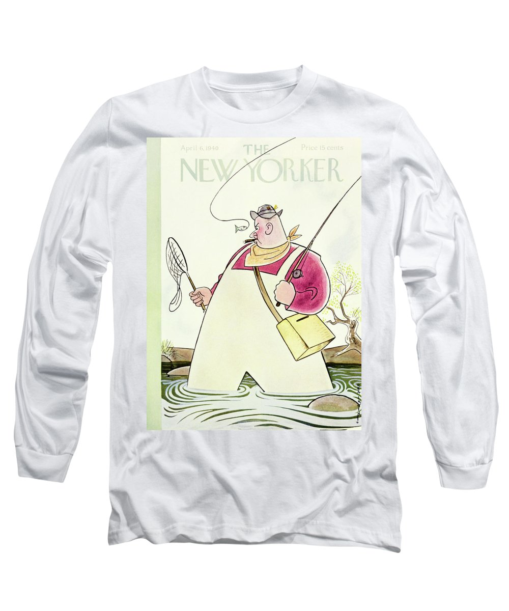 Sport Long Sleeve T-Shirt featuring the painting New Yorker April 6 1940 by Rea Irvin