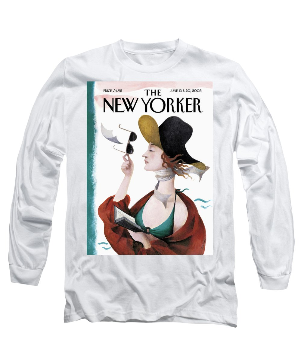 Eustace Tilley Long Sleeve T-Shirt featuring the painting Debut On The Beach by Ana Juan