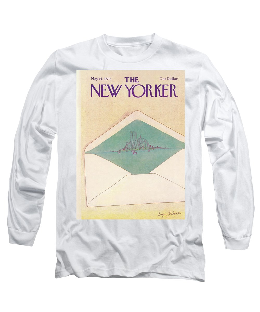Eugene Mihaesco Emi Long Sleeve T-Shirt featuring the painting New Yorker May 14th, 1979 by Eugene Mihaesco