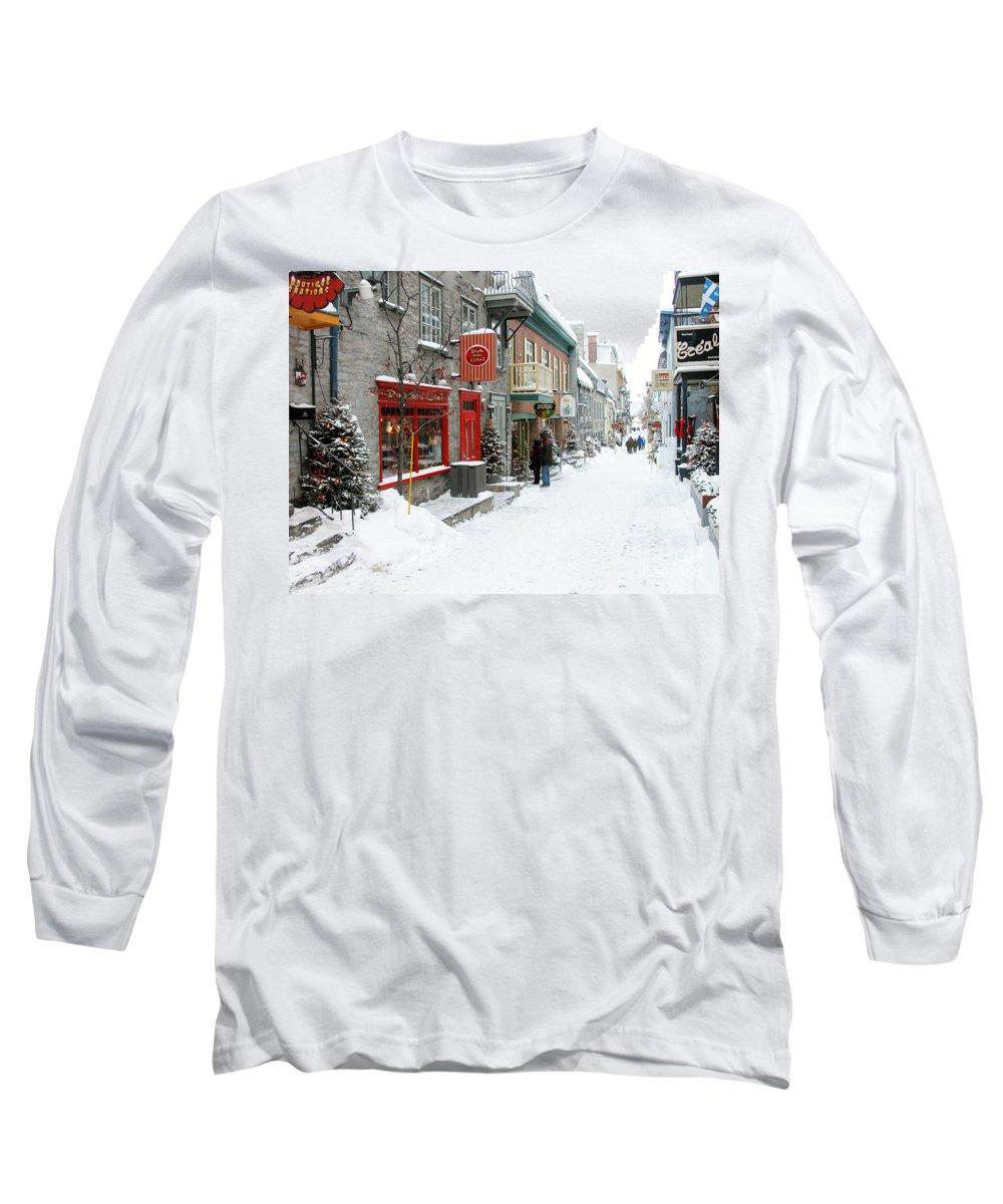 Quebec City Photographs Long Sleeve T-Shirts