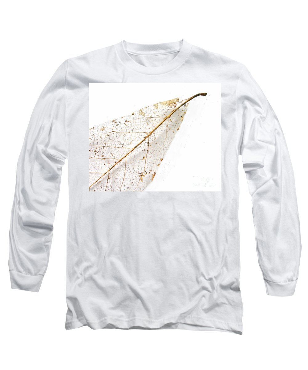 Leaf Long Sleeve T-Shirt featuring the photograph Remnant Leaf by Ann Horn
