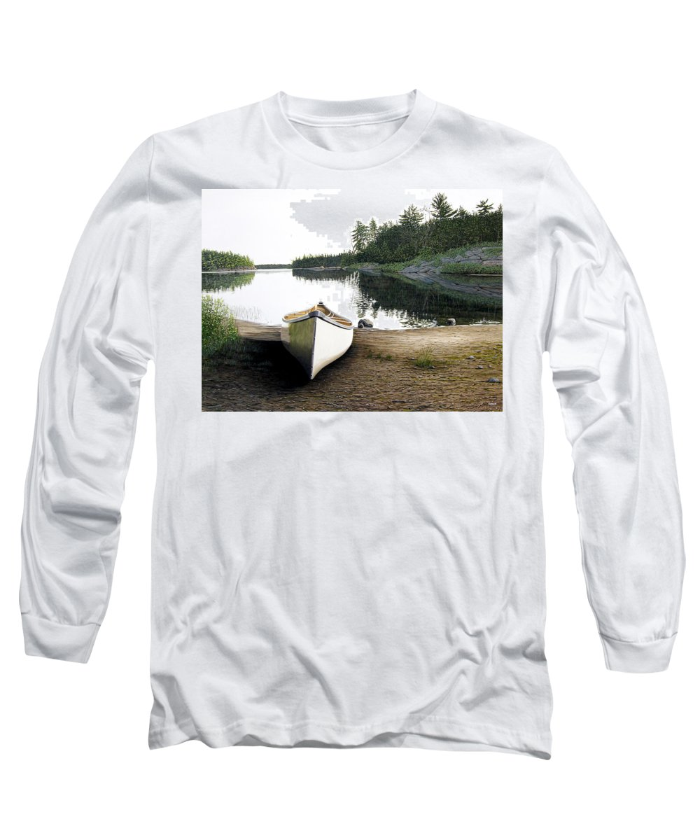 Landscapes Long Sleeve T-Shirt featuring the painting Silent Retreat by Kenneth M Kirsch