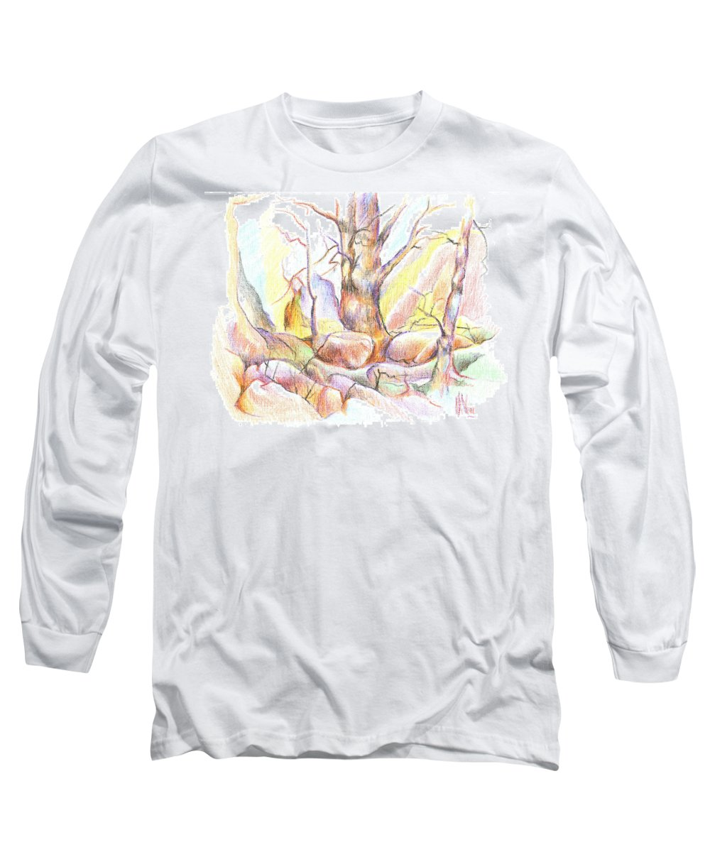 Softly Speaking Long Sleeve T-Shirt featuring the painting Softly Speaking by Kip DeVore