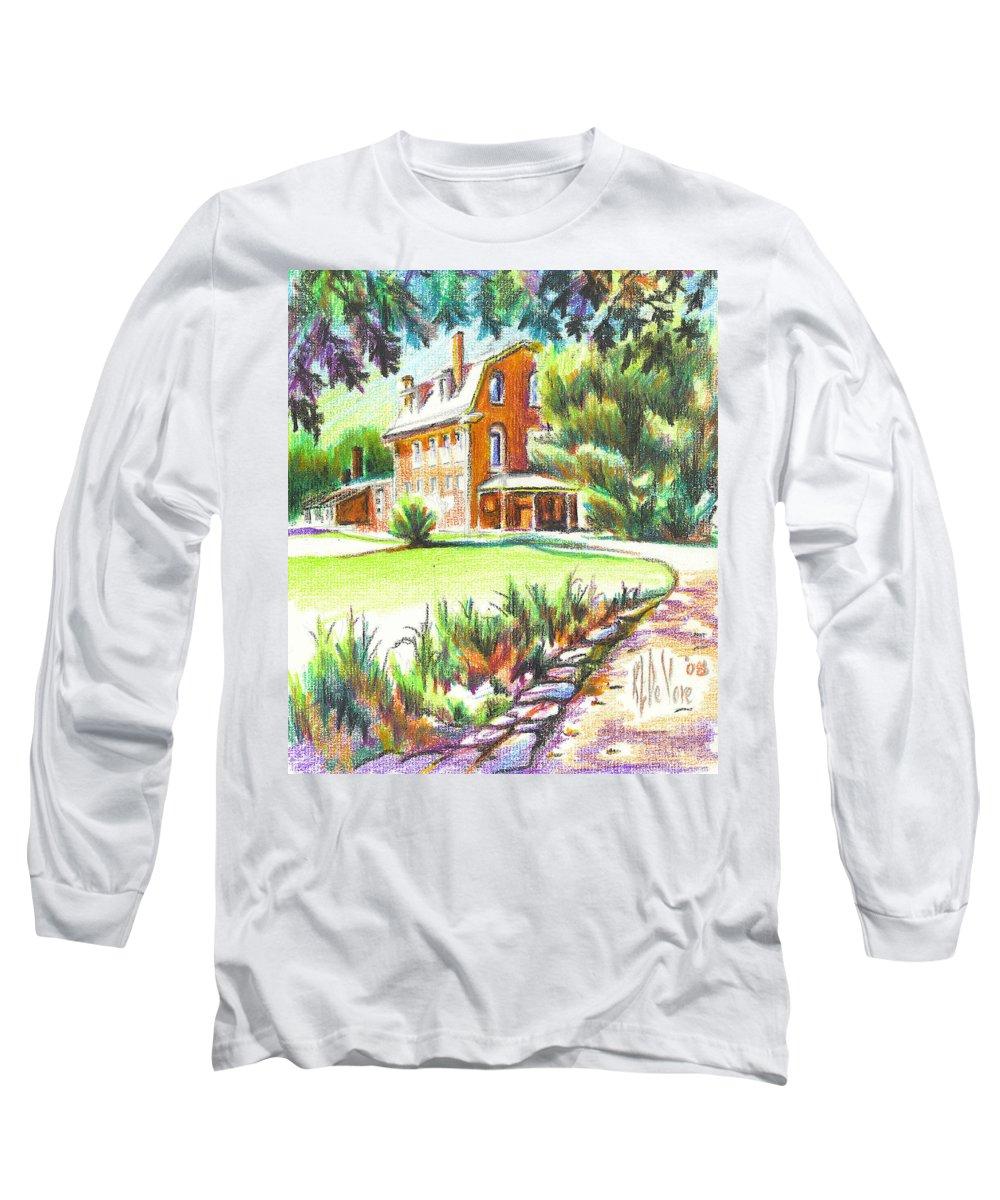 Summertime At Ursuline No C101 Long Sleeve T-Shirt featuring the painting Summertime At Ursuline No C101 by Kip DeVore