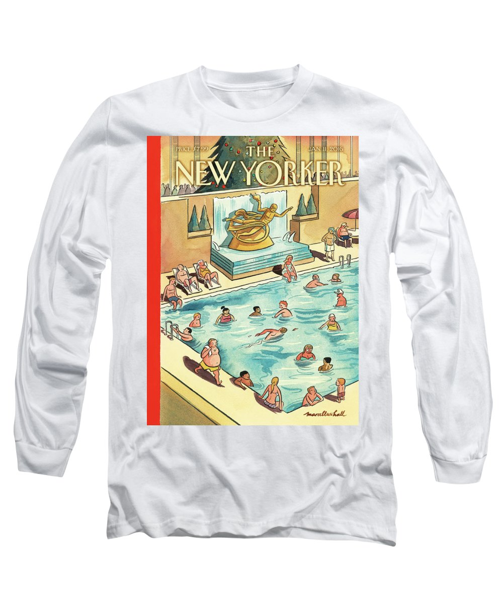 The Great Thaw Long Sleeve T-Shirt featuring the painting The Great Thaw by Marcellus Hall