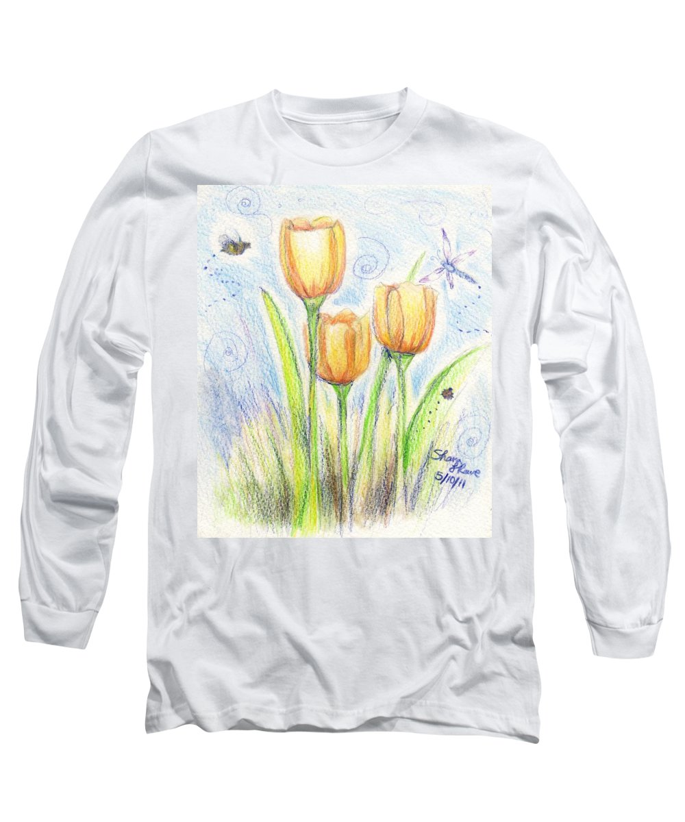 Golden Grass Long Sleeve T-Shirts