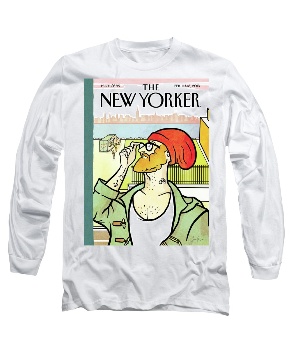 Brooklyn's Eustace Long Sleeve T-Shirt featuring the painting Brooklyn's Eustace by Simon Greiner