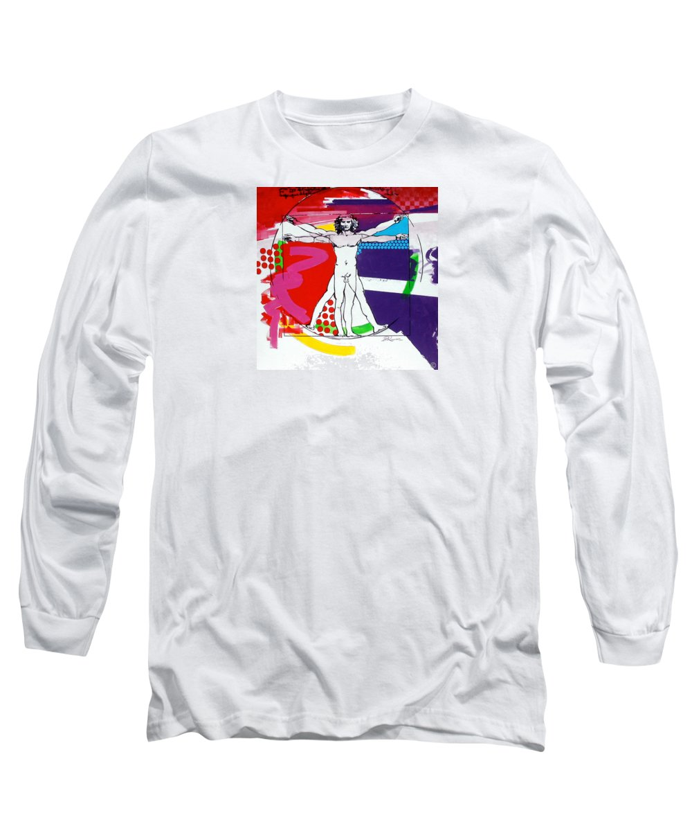 Classic Long Sleeve T-Shirt featuring the painting Vetruvian by Jean Pierre Rousselet