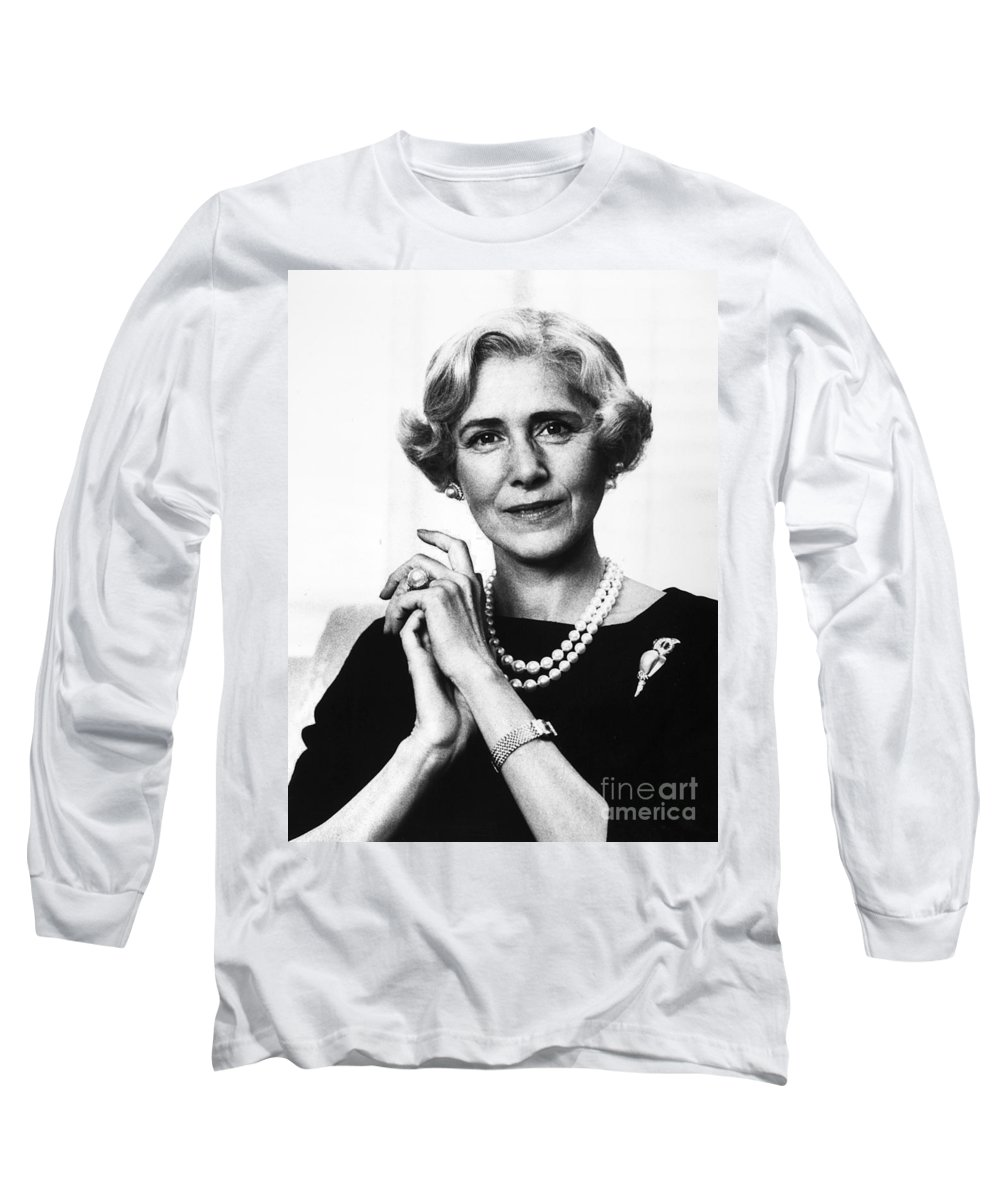 1963 Long Sleeve T-Shirt featuring the photograph Clare Boothe Luce (1903-1987) by Granger