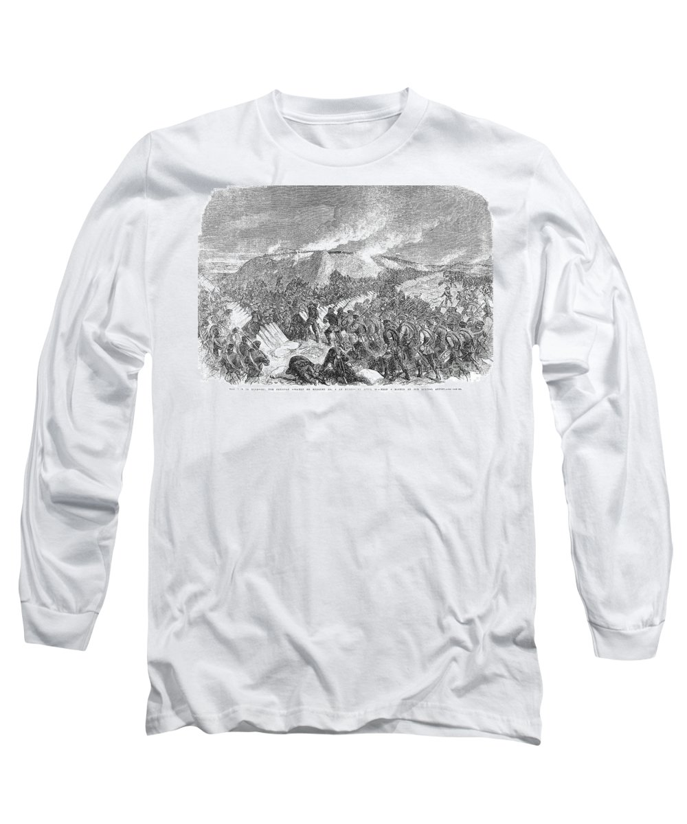 1864 Long Sleeve T-Shirt featuring the photograph Schleswig-holstein, 1864 by Granger