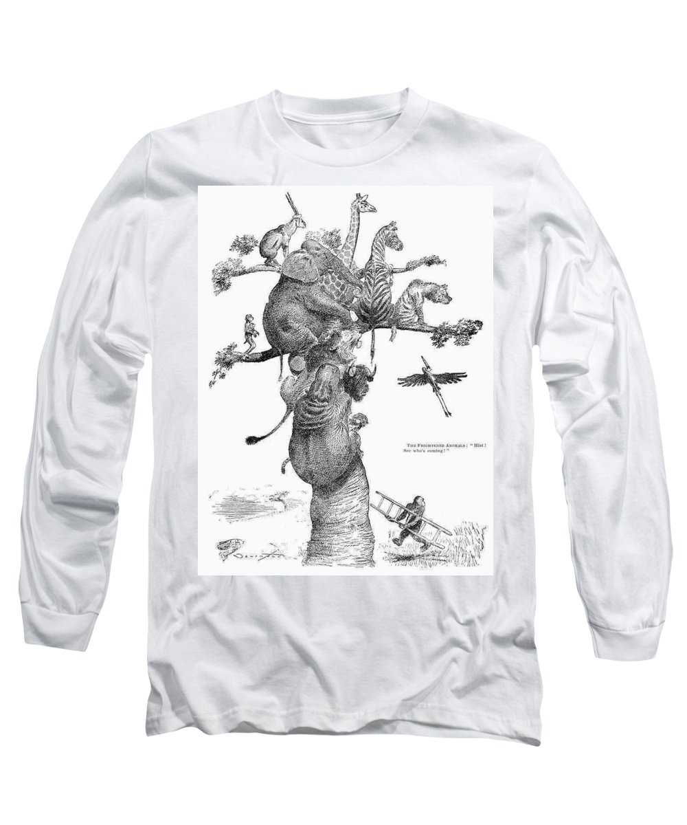 20th Century Long Sleeve T-Shirt featuring the photograph Teddy Roosevelt Cartoon by Granger