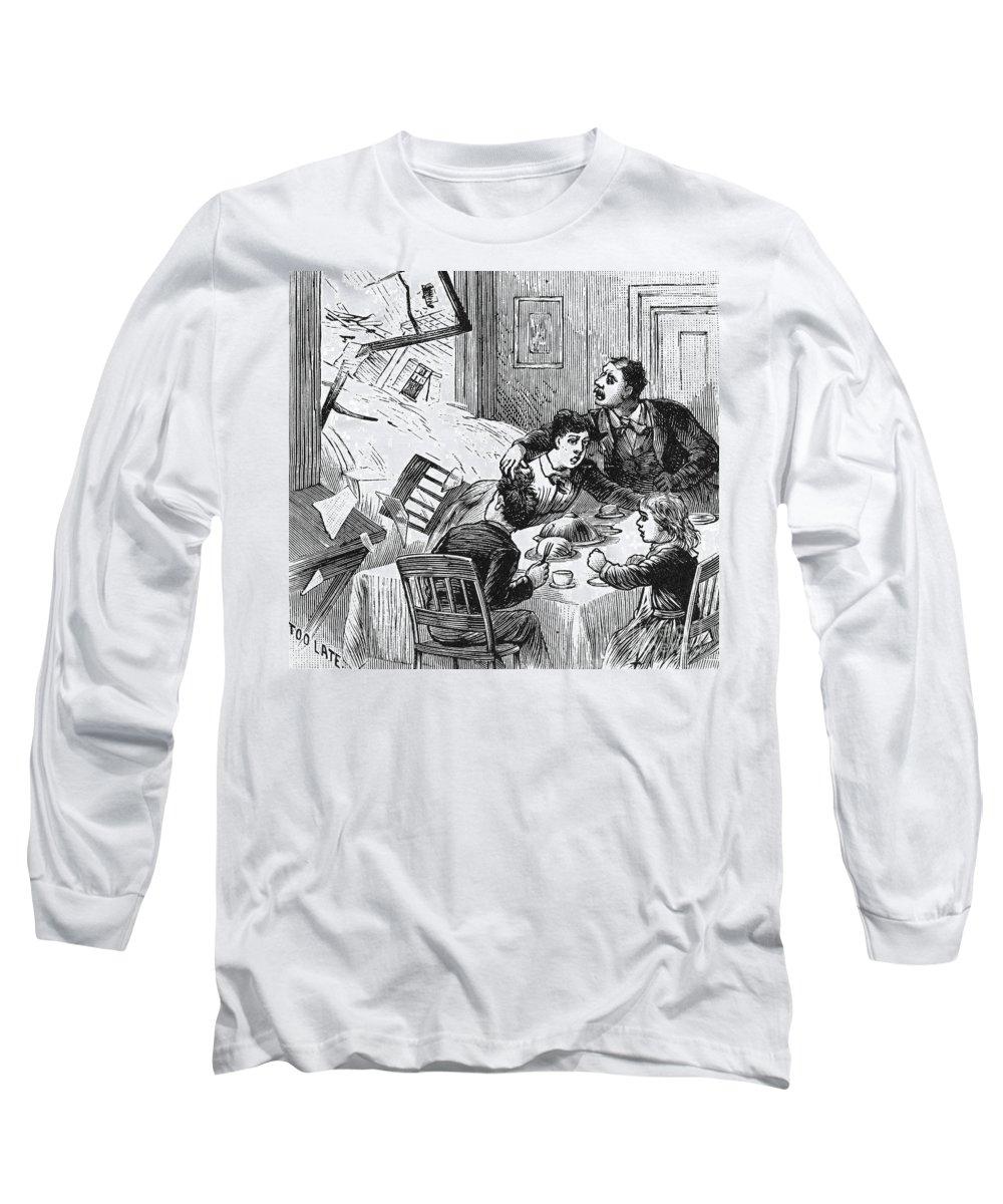 1889 Long Sleeve T-Shirt featuring the photograph Johnstown Flood, 1889 by Granger