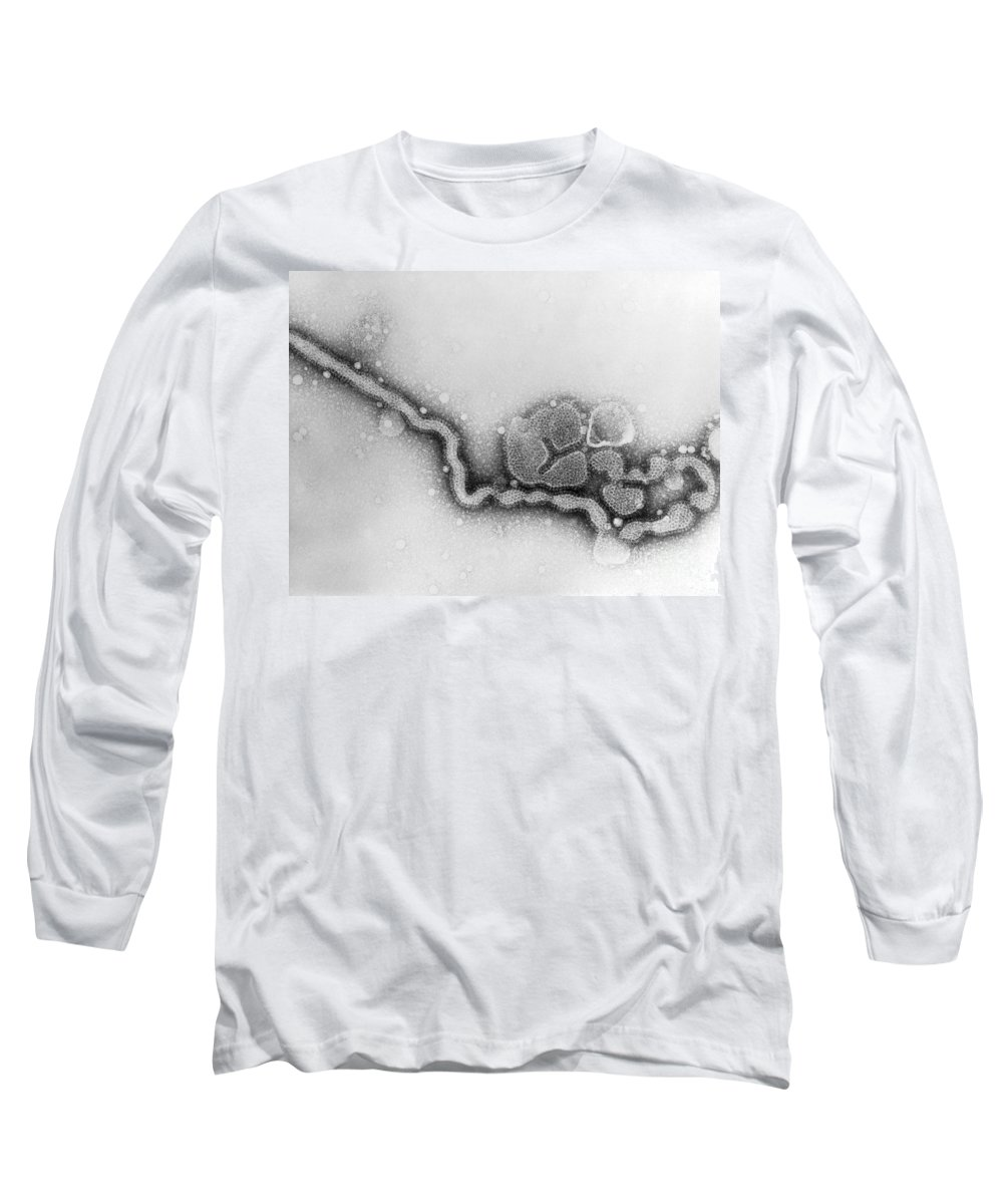 All Use Long Sleeve T-Shirt featuring the photograph Influenza Virus, Tem by Science Source
