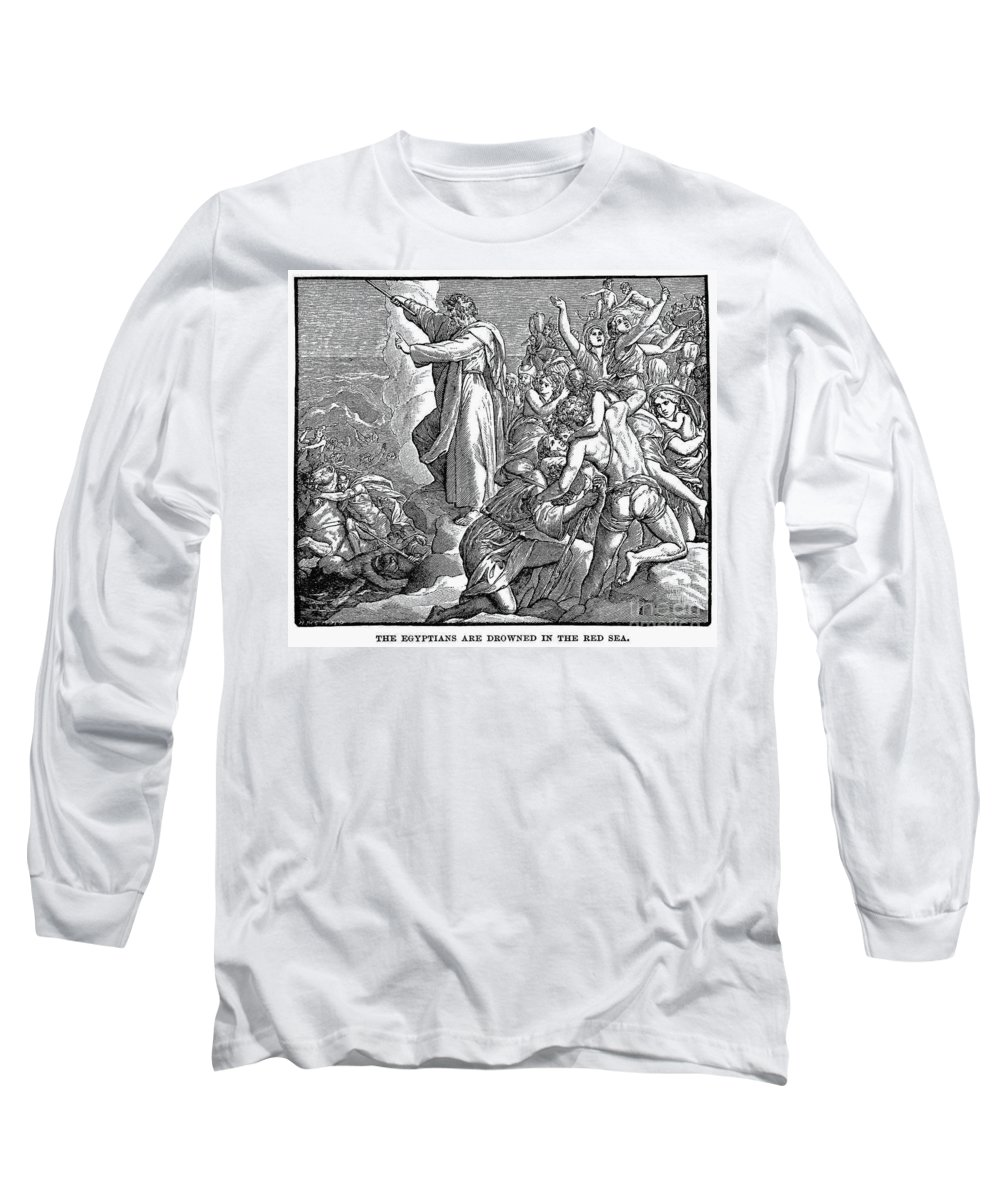 Ancient Long Sleeve T-Shirt featuring the photograph Moses And The Red Sea by Granger