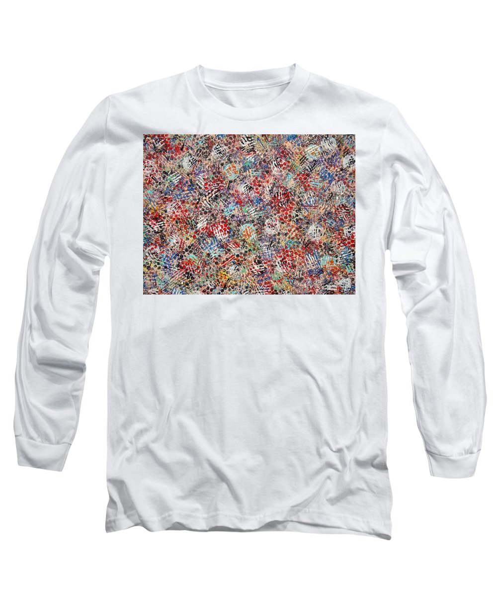 Golf Long Sleeve T-Shirt featuring the painting Golf by Natalie Holland