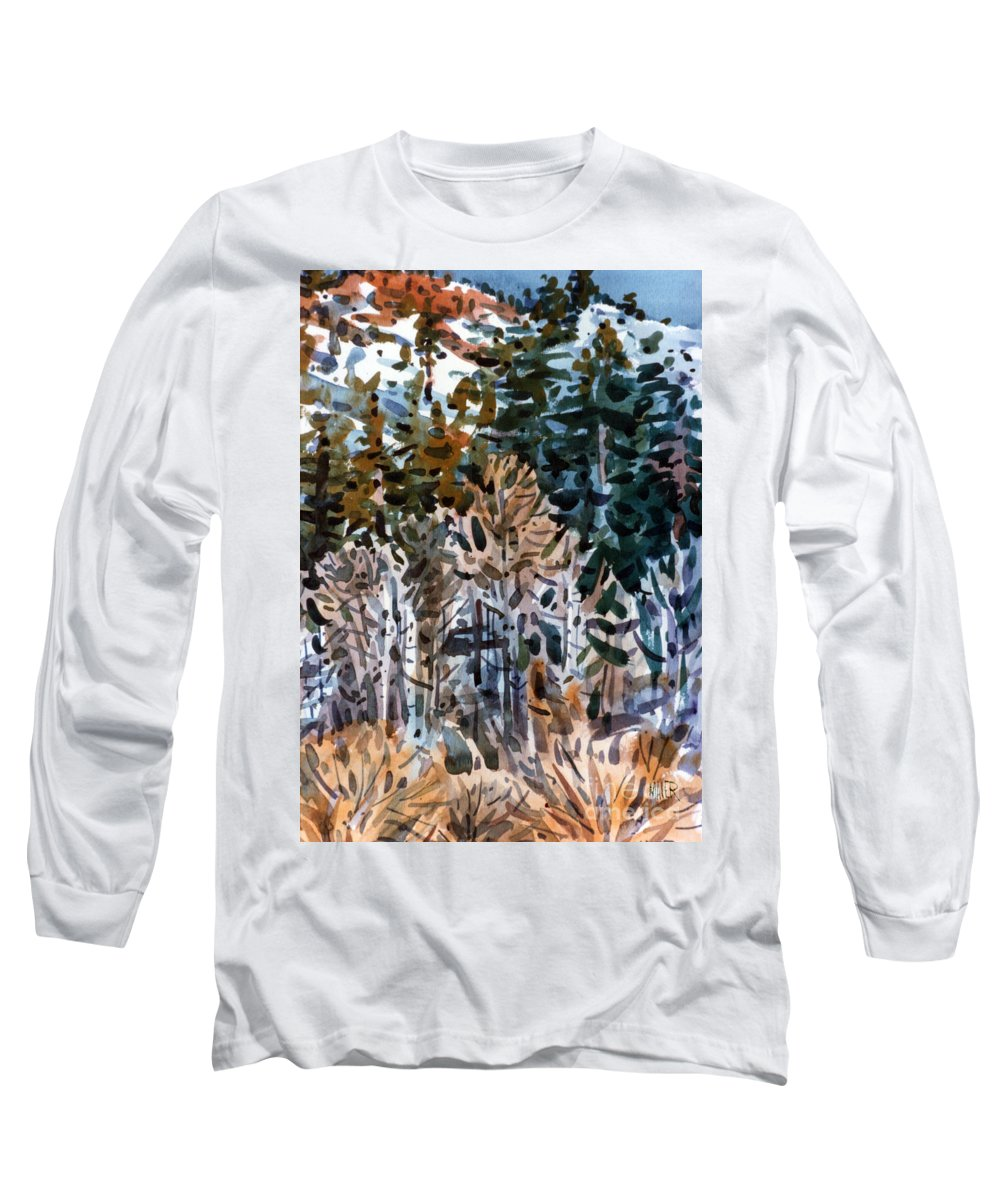 Walker River Long Sleeve T-Shirt featuring the painting Along The Walker River by Donald Maier