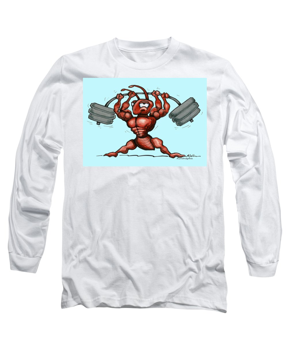 Gym Long Sleeve T-Shirt featuring the greeting card Ant by Kevin Middleton