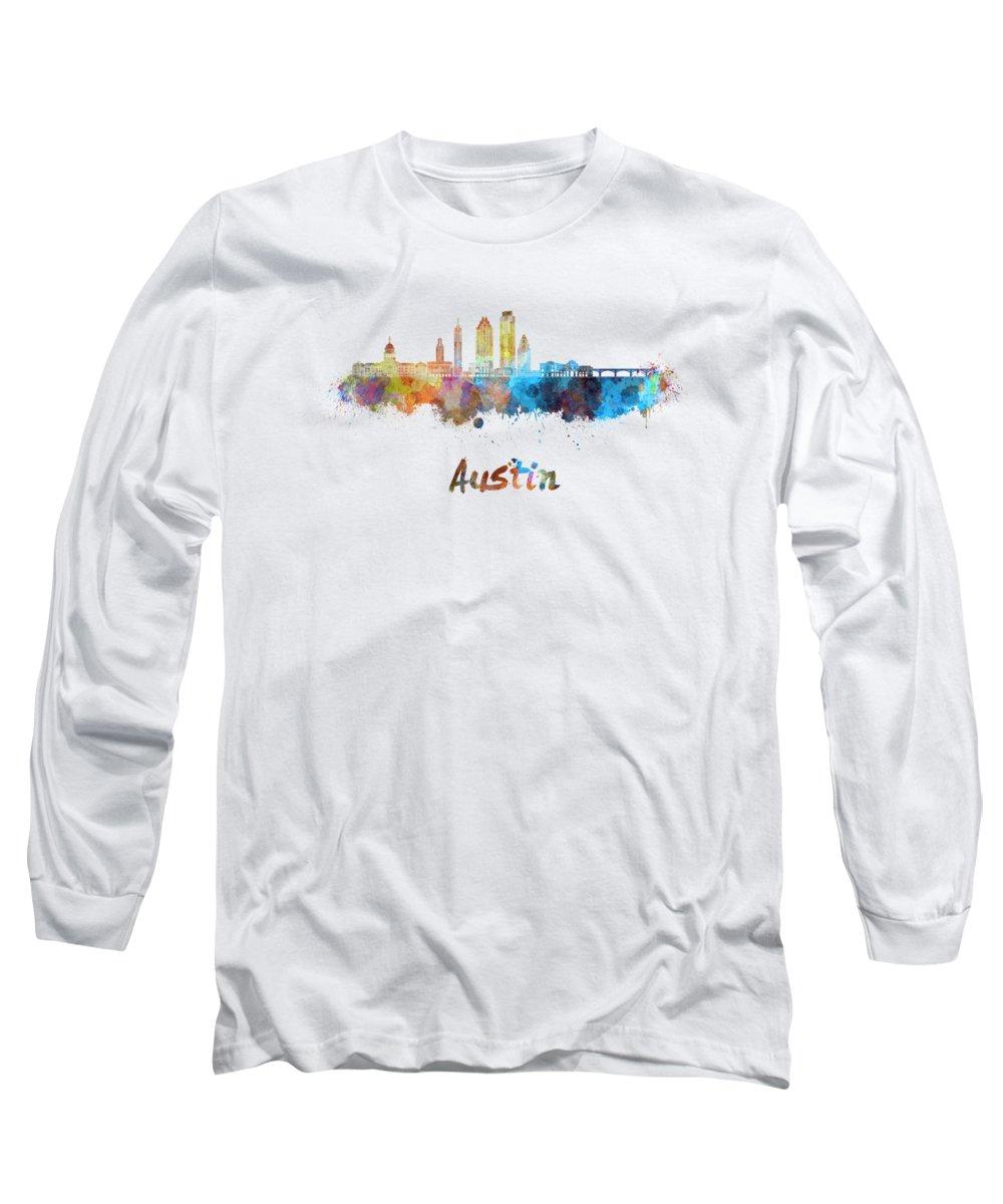 Austin Skyline Long Sleeve T-Shirts