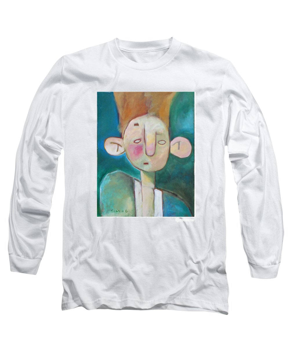 Funny Long Sleeve T-Shirt featuring the painting Bad Hair Life by Tim Nyberg