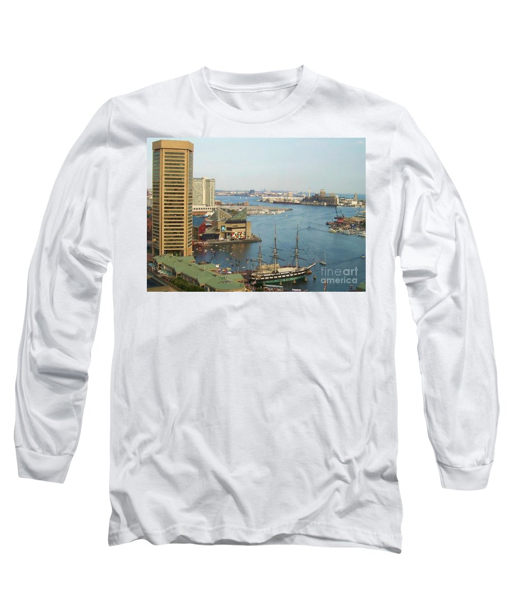 Baltimore Long Sleeve T-Shirt featuring the photograph Baltimore by Debbi Granruth
