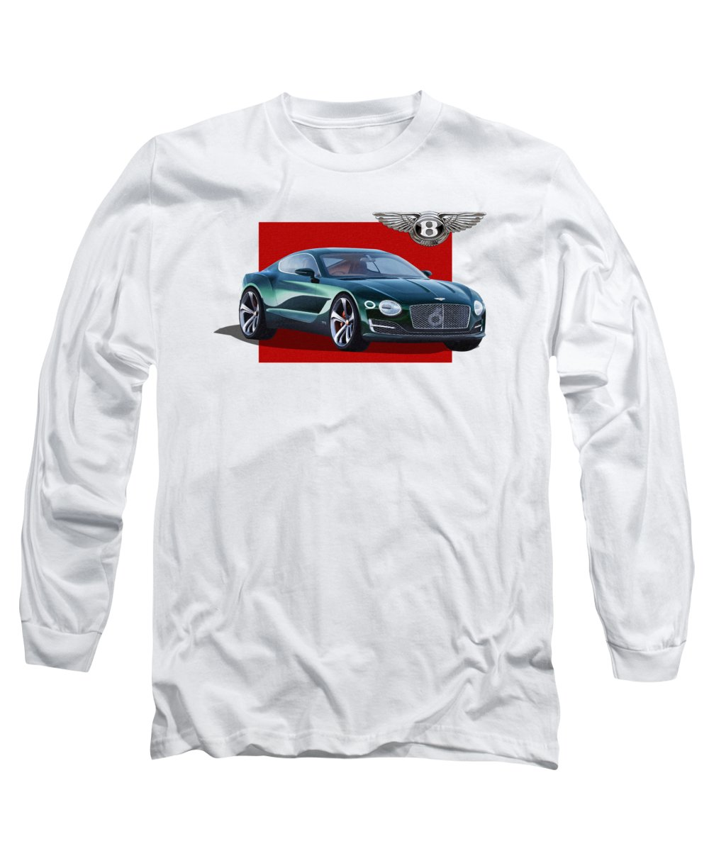 �bentley� Collection By Serge Averbukh Long Sleeve T-Shirt featuring the photograph Bentley E X P 10 Speed 6 With 3 D Badge by Serge Averbukh