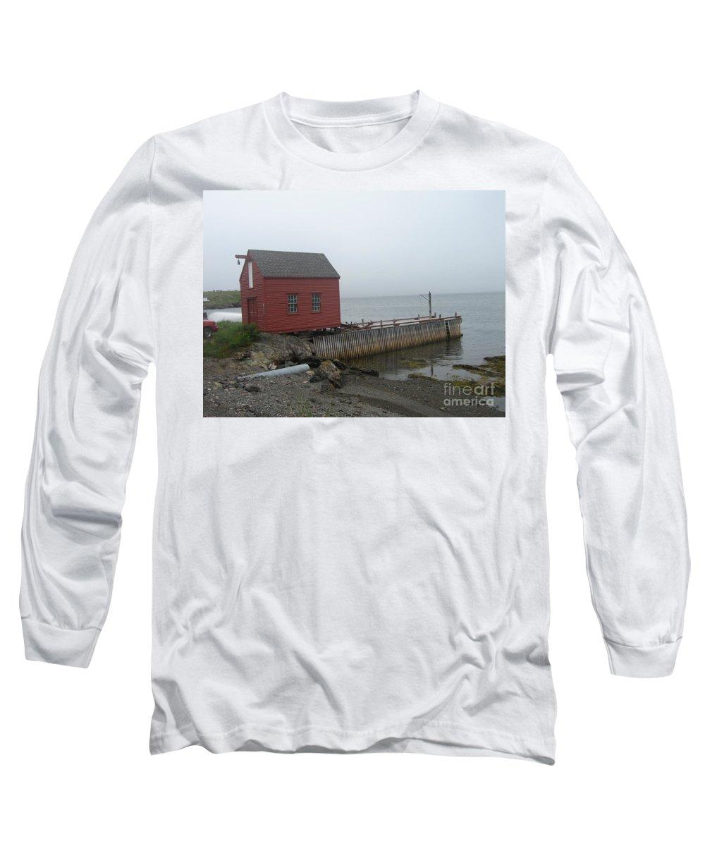 Photograph Bonavista Island Atlantic Ocean Newfoundland Long Sleeve T-Shirt featuring the photograph Bonavista by Seon-Jeong Kim