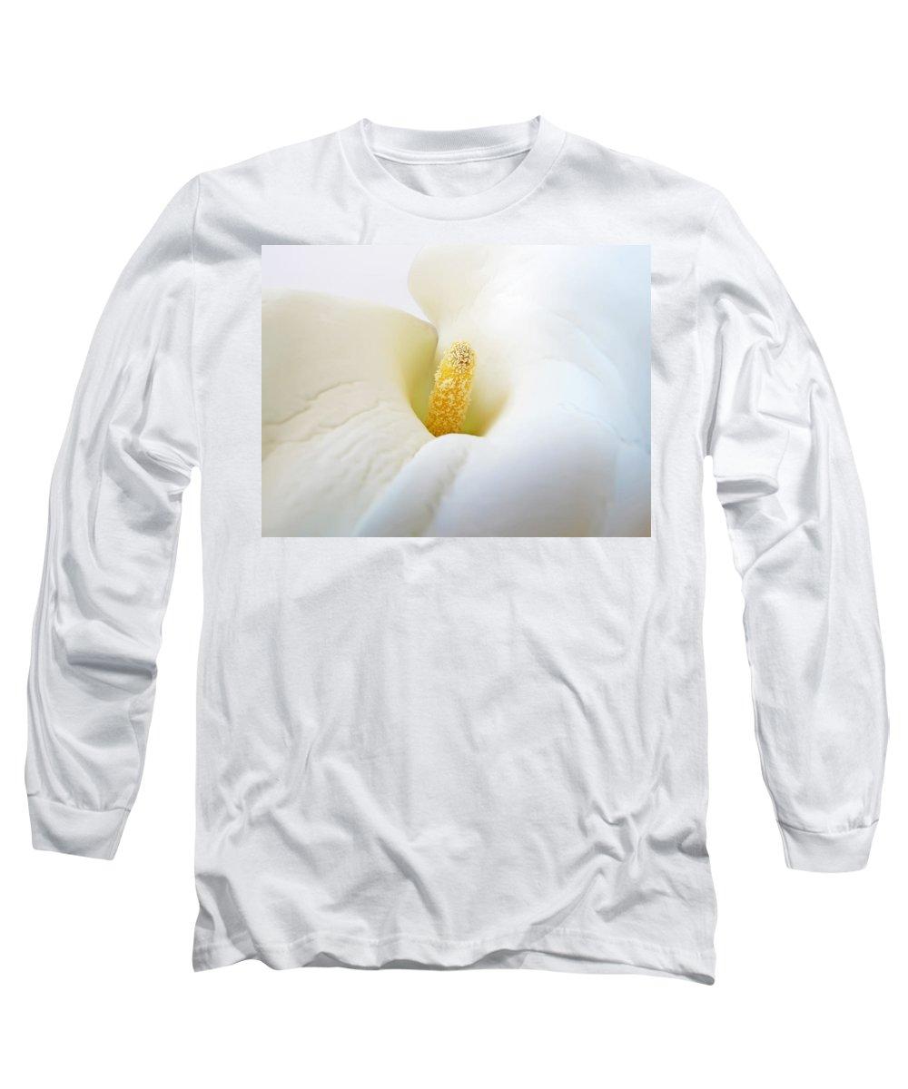 Flower Long Sleeve T-Shirt featuring the photograph Calla by Daniel Csoka