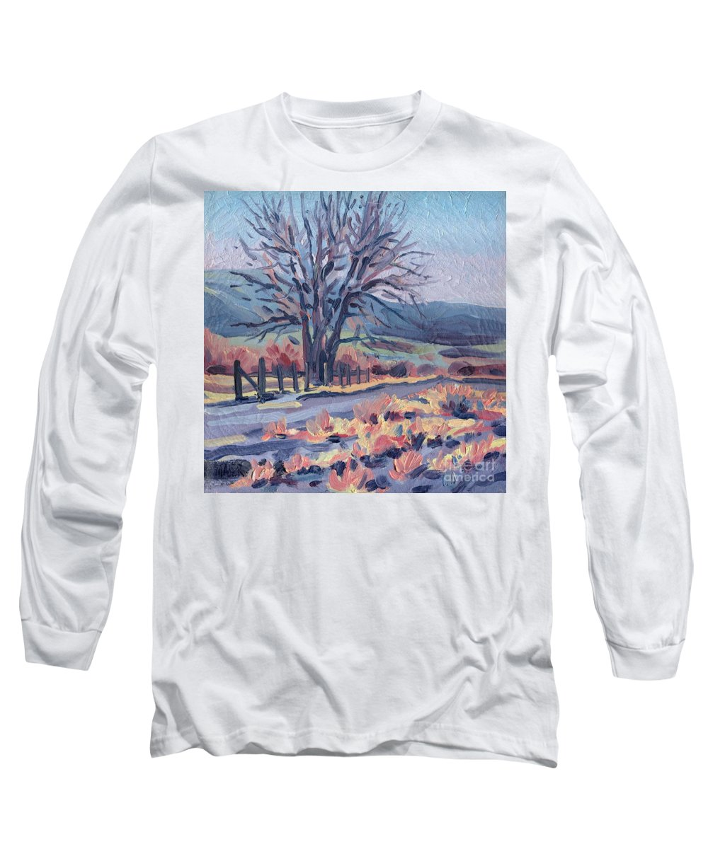 Road Long Sleeve T-Shirt featuring the painting Country Road by Donald Maier