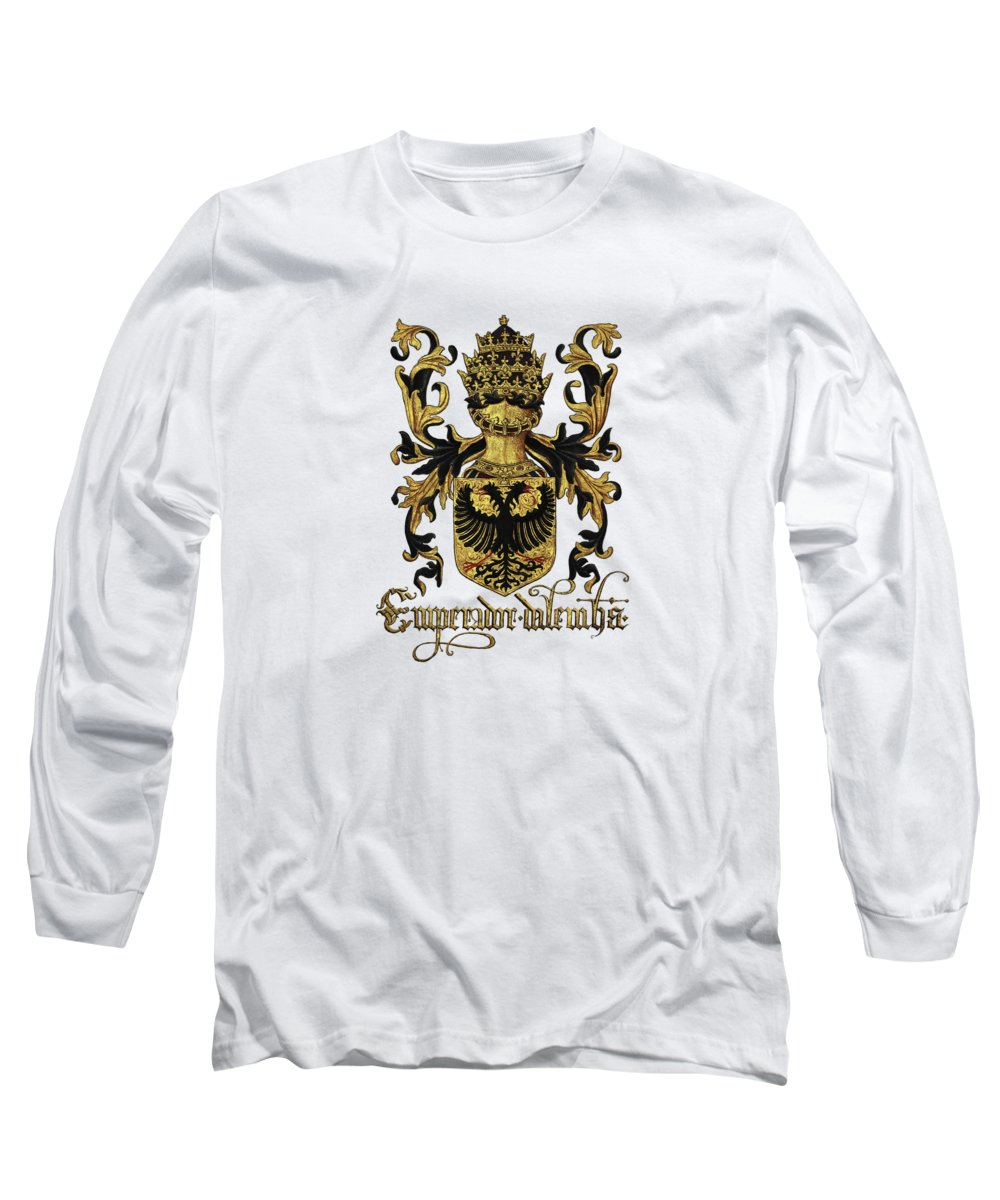 'roll Of Arms� Collection By Serge Averbukh Long Sleeve T-Shirt featuring the photograph Emperor Of Germany Coat Of Arms - Livro Do Armeiro-mor by Serge Averbukh
