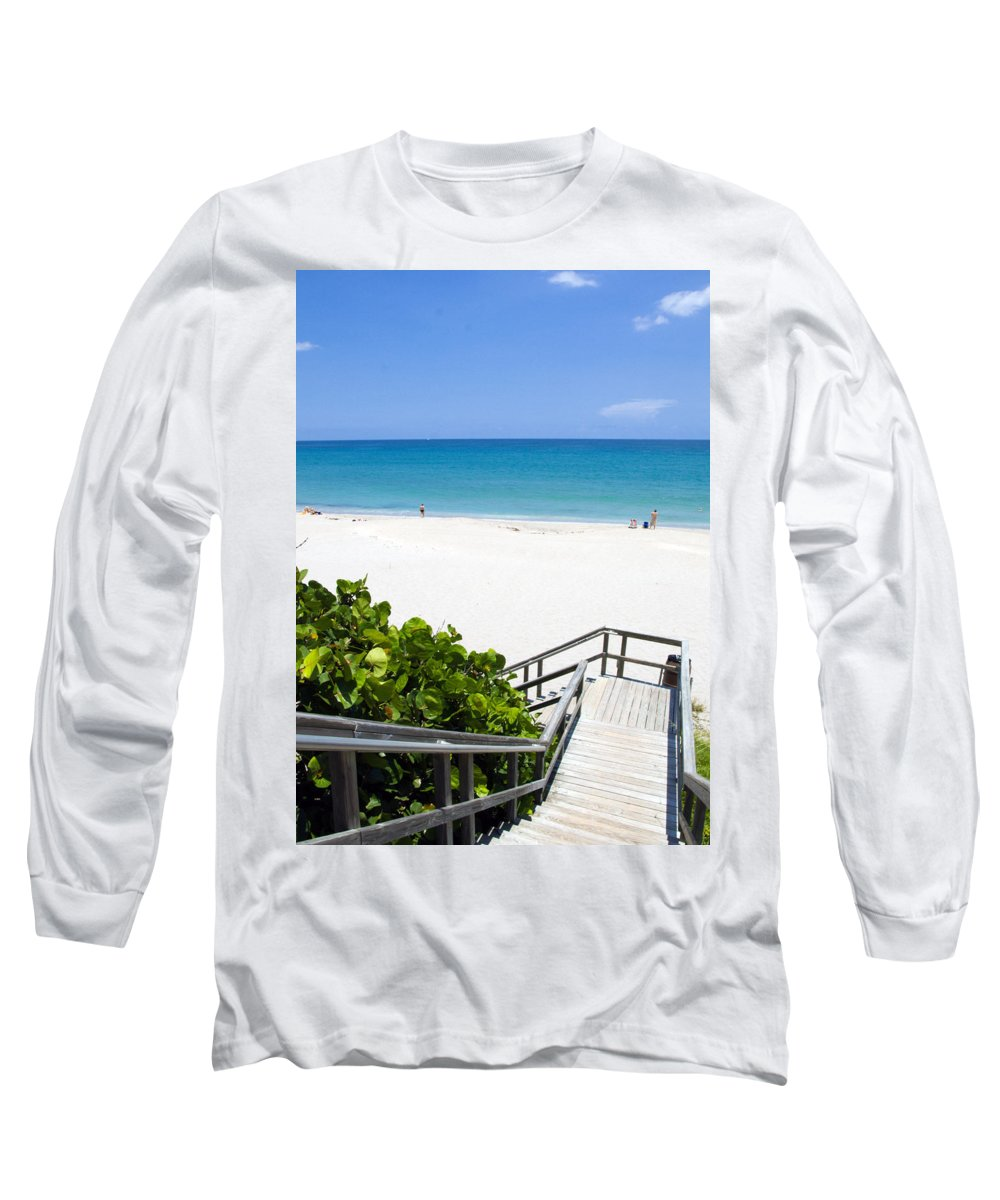 Juno; Florida; Loxahatchee; River; Jupiter; Inlet; Swim; Swimming; Children; Girl; Boy; Woman; Man; Long Sleeve T-Shirt featuring the photograph Juno Beach Florida by Allan Hughes