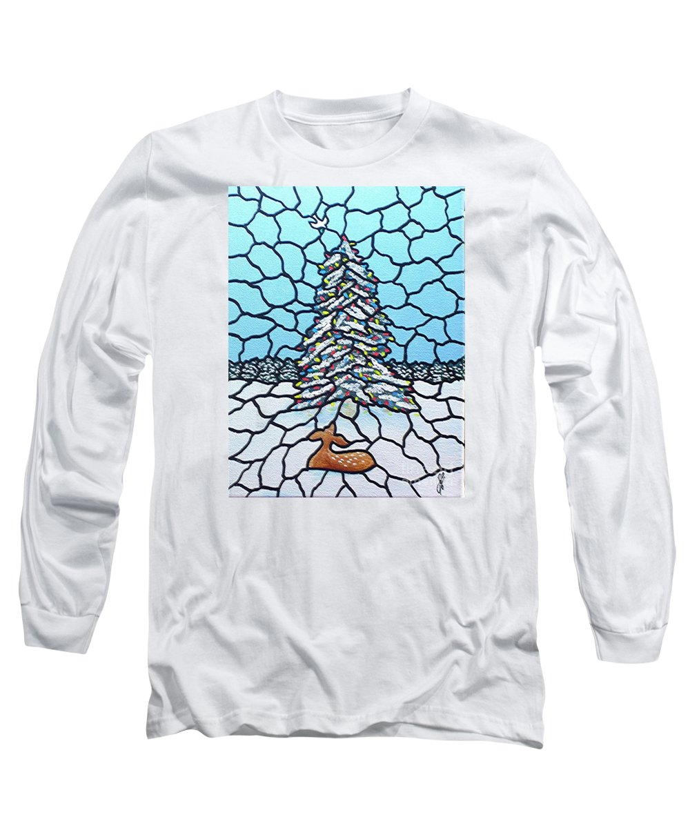Peace Long Sleeve T-Shirt featuring the painting Let There Be Peace by Jim Harris