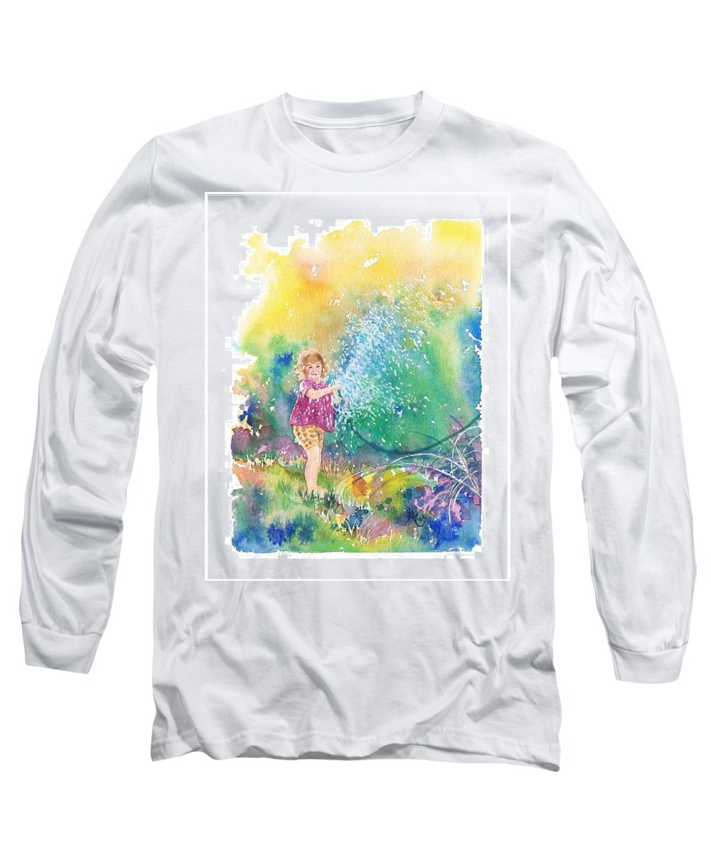 Children Long Sleeve T-Shirt featuring the painting Summer Fun by Gale Cochran-Smith