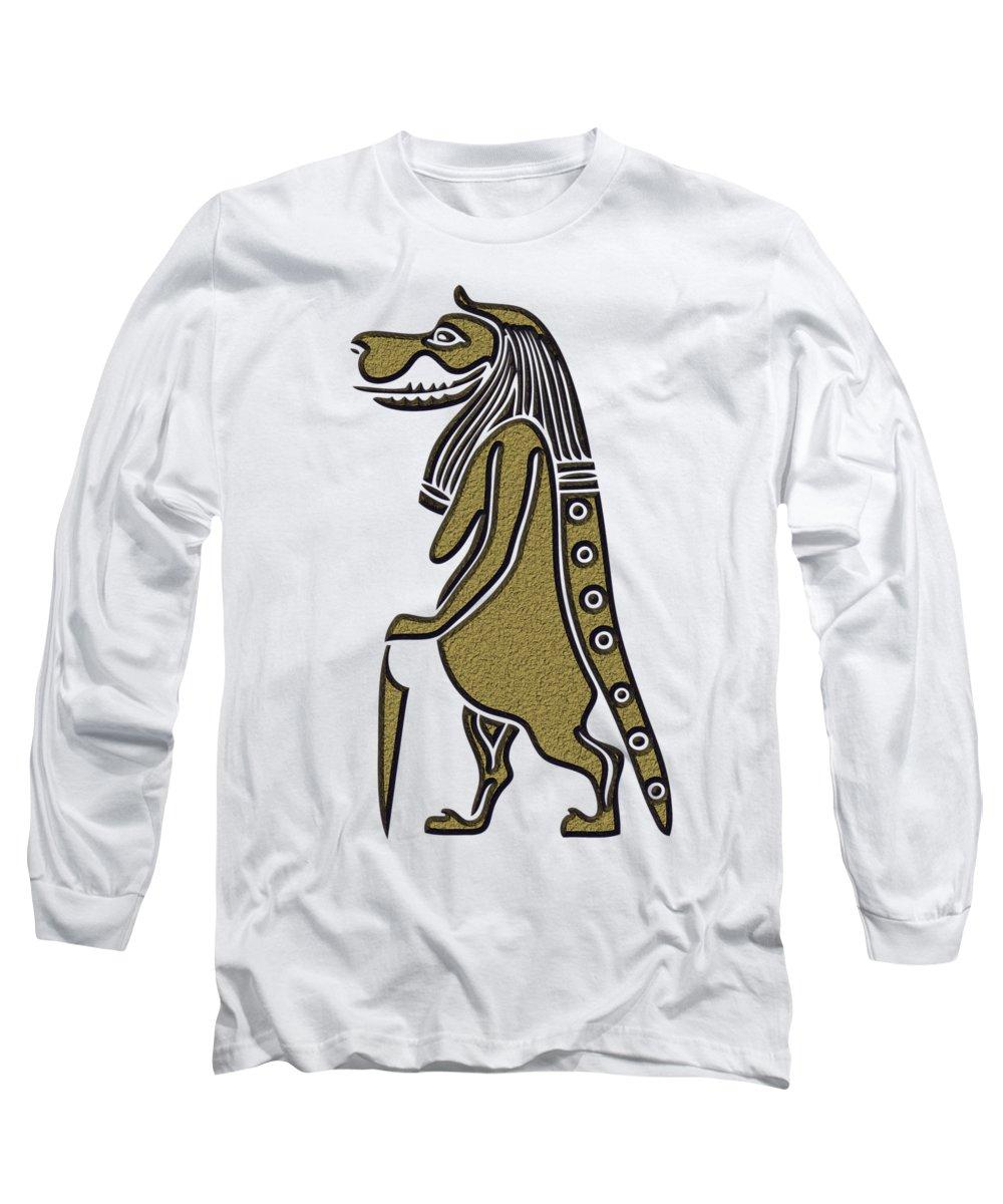 Sacred Mixed Media Long Sleeve T-Shirts