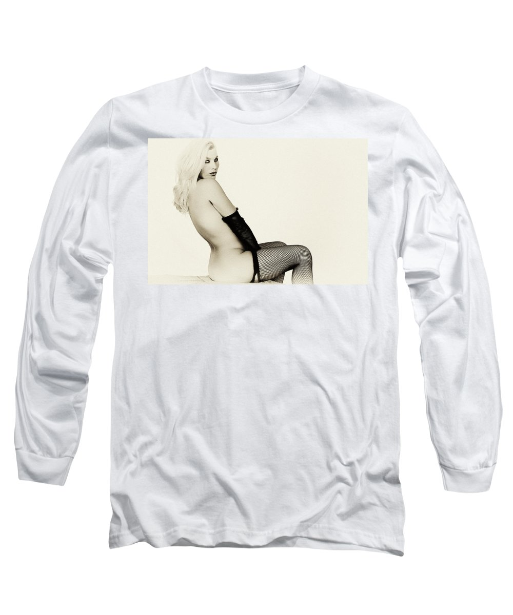 Clay Long Sleeve T-Shirt featuring the photograph Vintage Pinup Glamour by Clayton Bruster