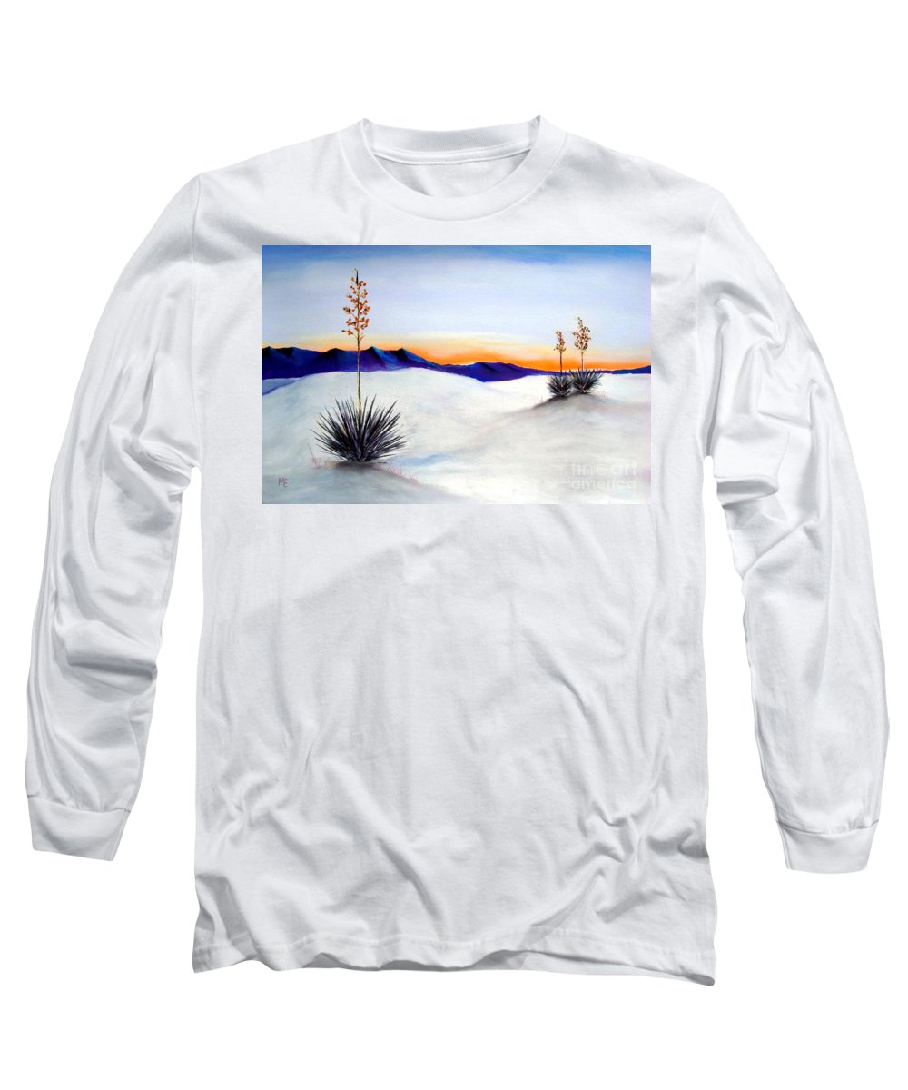 White Sands Long Sleeve T-Shirt featuring the painting White Sands by Melinda Etzold