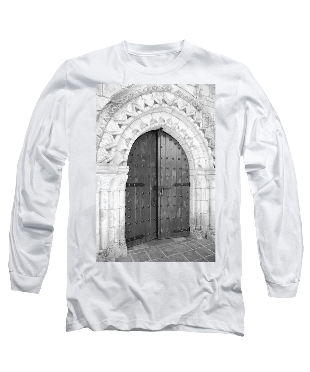 Wooden Doors Long Sleeve T-Shirt featuring the photograph Miami Monastery by Rob Hans