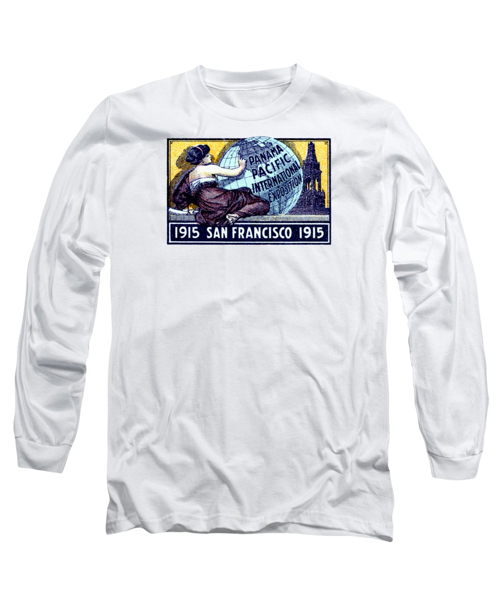 San Francisco Long Sleeve T-Shirt featuring the painting 1915 San Francisco Expo Poster by Historic Image