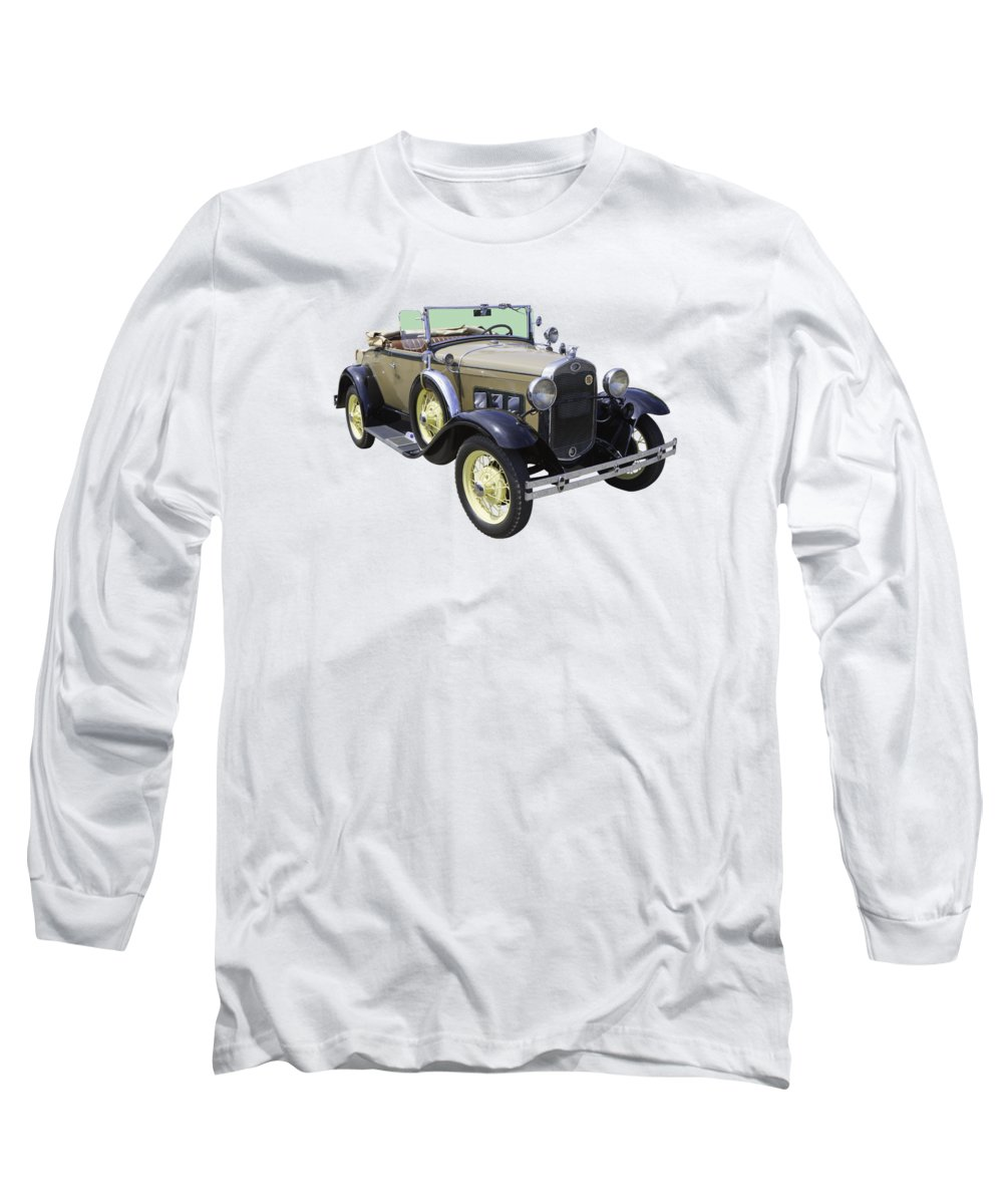 Antique Long Sleeve T-Shirt featuring the photograph 1931 Ford Model A Cabriolet by Keith Webber Jr