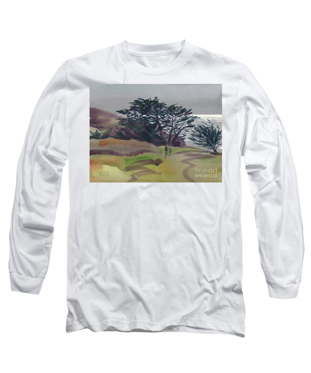 Plein Air Long Sleeve T-Shirt featuring the painting Miramonte Point 1 by Donald Maier