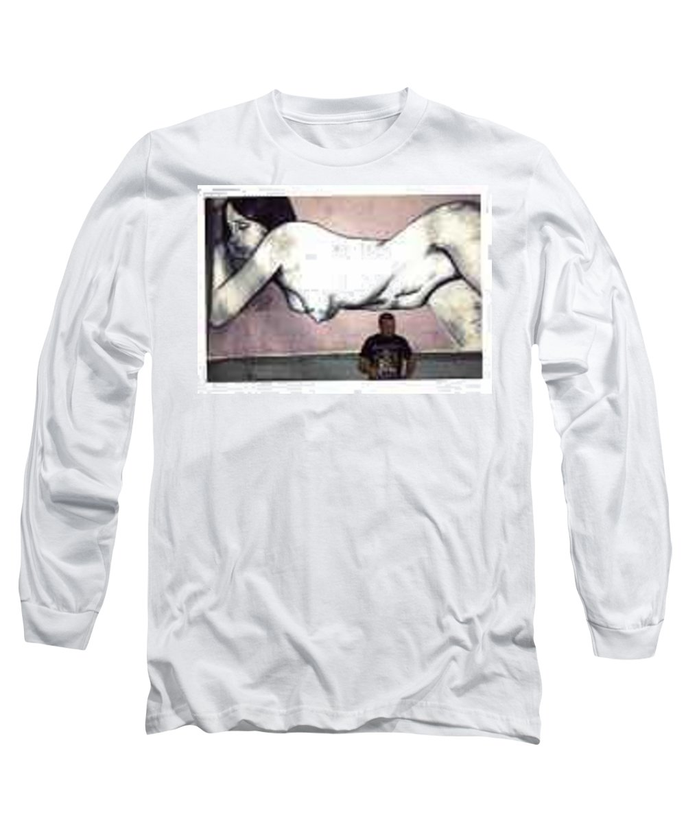 Nude Long Sleeve T-Shirt featuring the painting Missy by Thomas Valentine