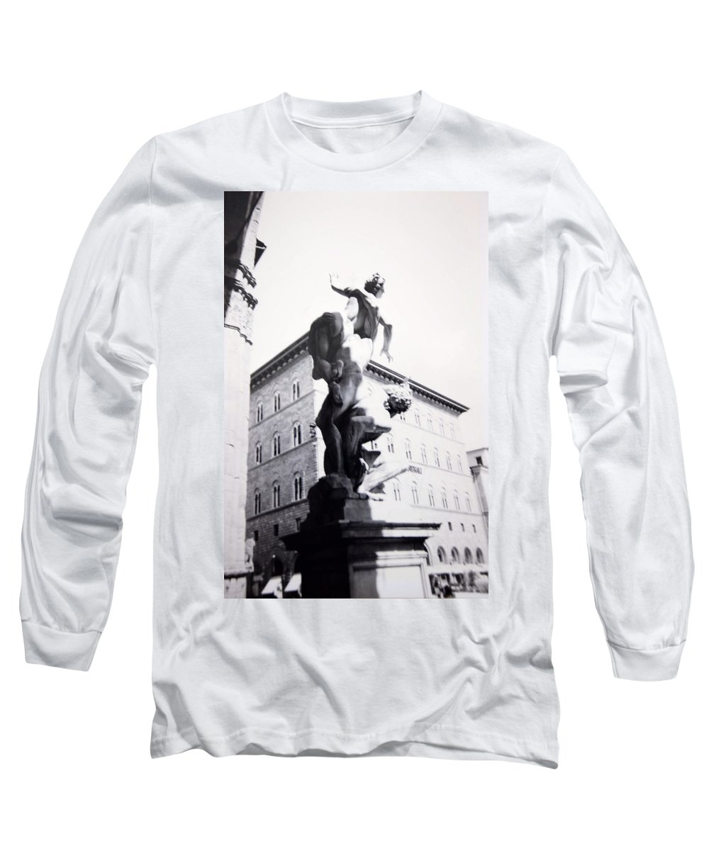Florence Long Sleeve T-Shirt featuring the photograph Palazzo Vecchio by Kurt Hausmann