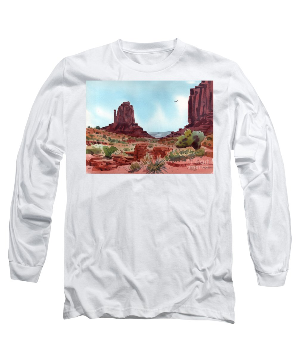 Right Mitten Long Sleeve T-Shirt featuring the painting Right Mitten by Donald Maier