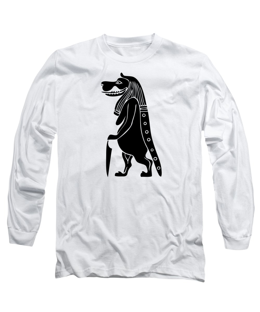 Creature Long Sleeve T-Shirt featuring the photograph Taweret - Mythical Creature Of Ancient Egypt 2 by Michal Boubin