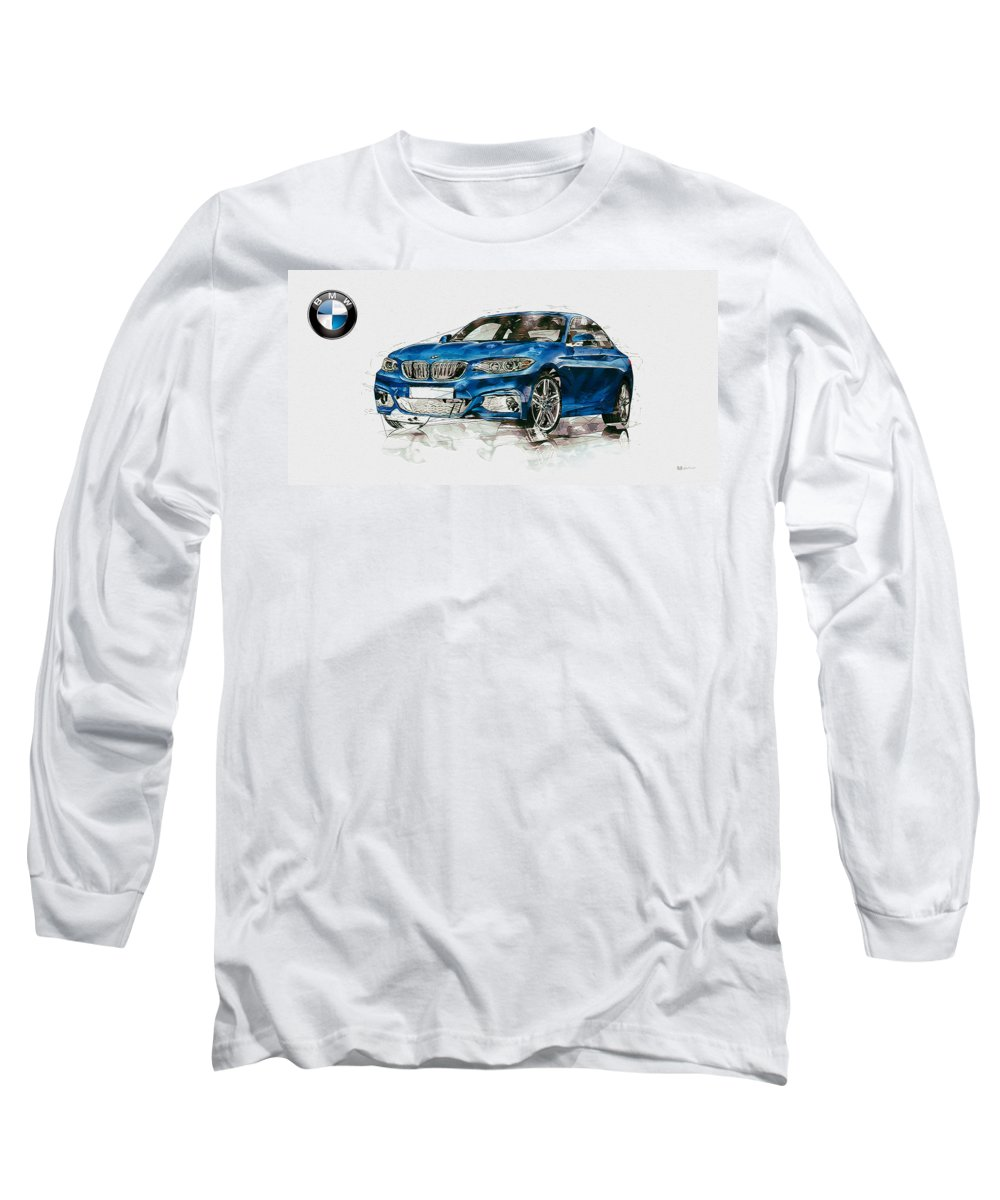 Wheels Of Fortune By Serge Averbukh Long Sleeve T-Shirt featuring the photograph 2014 B M W 2 Series Coupe With 3d Badge by Serge Averbukh