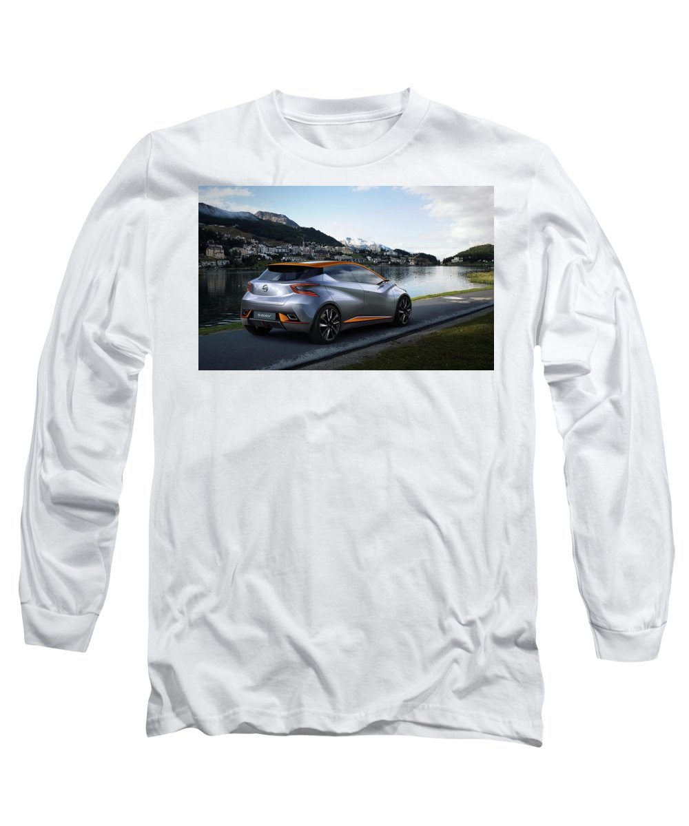 Nissan Sway Concept  1 Long Sleeve T-Shirt featuring the digital art 2015 Nissan Sway Concept 3 1 by Mery Moon