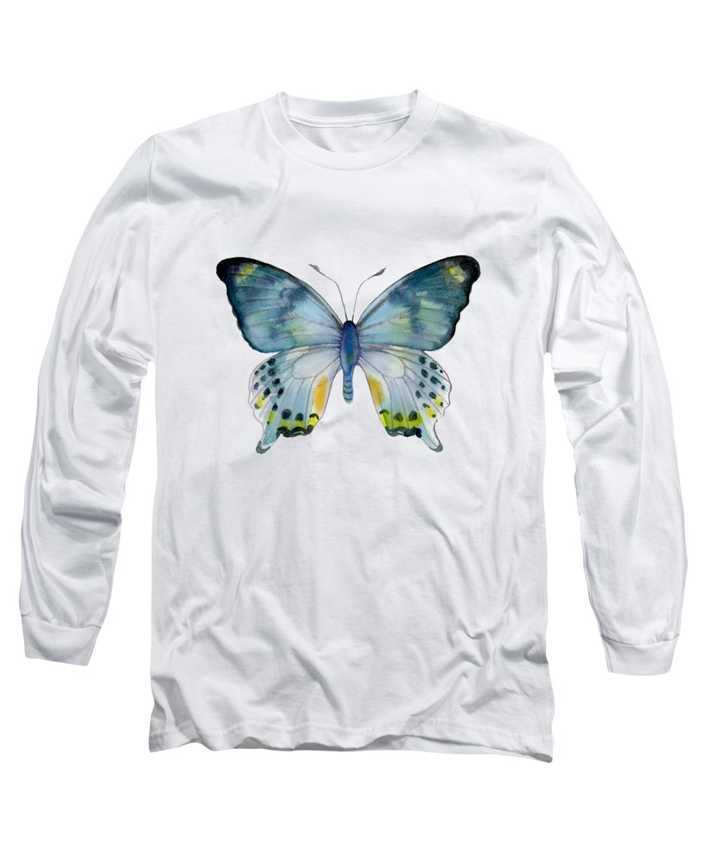 Laglaizei Butterfly Long Sleeve T-Shirt featuring the painting 68 Laglaizei Butterfly by Amy Kirkpatrick